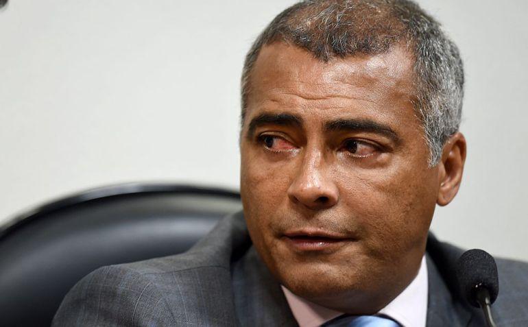 Romario, durante un acto en Brasil donde ejerce su actividad política
