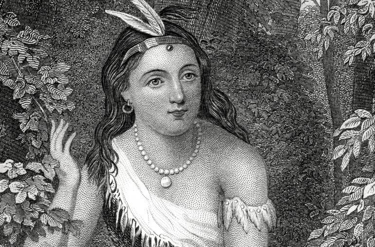 Matoaka, conocida popularmente como Pocahontas