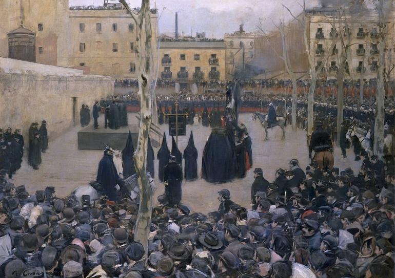 Ejecución pública en el Madrid del siglo XIX