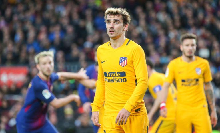 Griezmann durante un partido en el Camp Nou