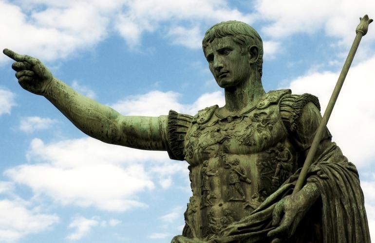 Escultura del emperador romano Octavio Augusto