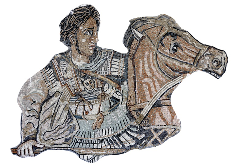 Mosaico del emperador macedonio Alejandro Magno