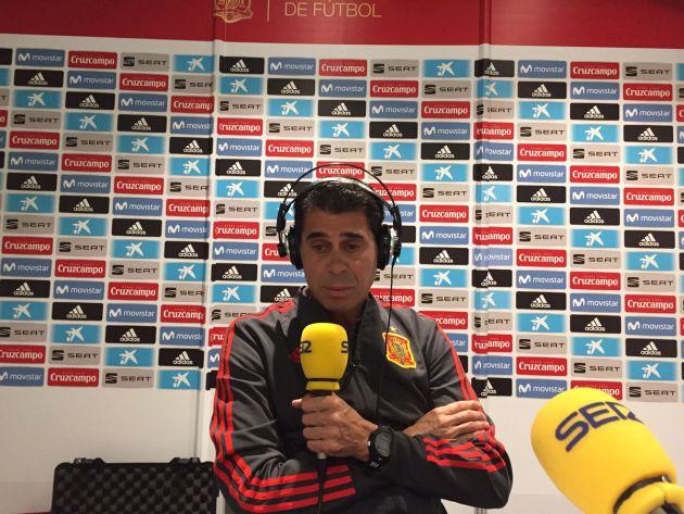 Fernando Hierro, durante la entrevista en El Larguero