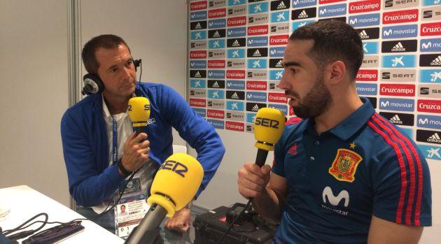 Dani Carvajal, durante la entrevista con Manu Carreño