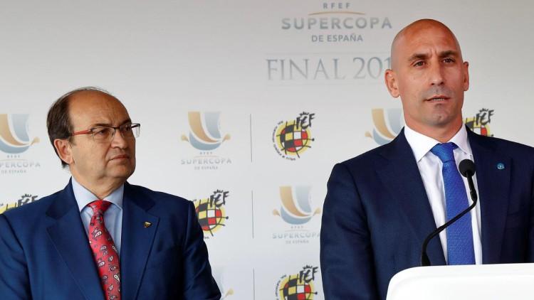 Tenso enfrentamiento entre Luis Rubiales y Pepe Castro