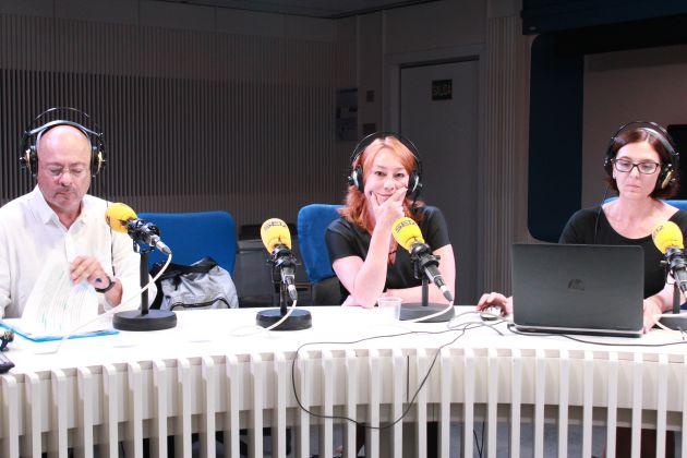 Jorge Díez Acón y Gracia Querejeta, en la mesa de 'Hora 25'