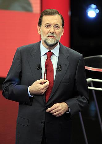 SUELDO. Rajoy, durante el programa <i>Tengo una pregunta para usted</i>.