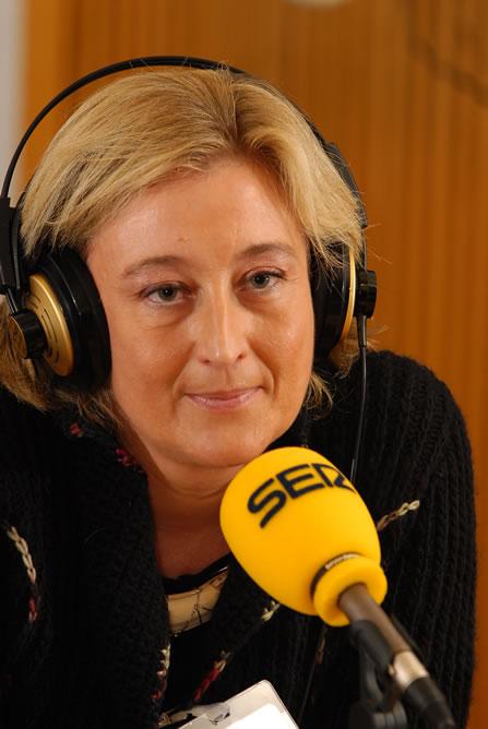 Elisa Beni, en los estudios de la Cadena SER
