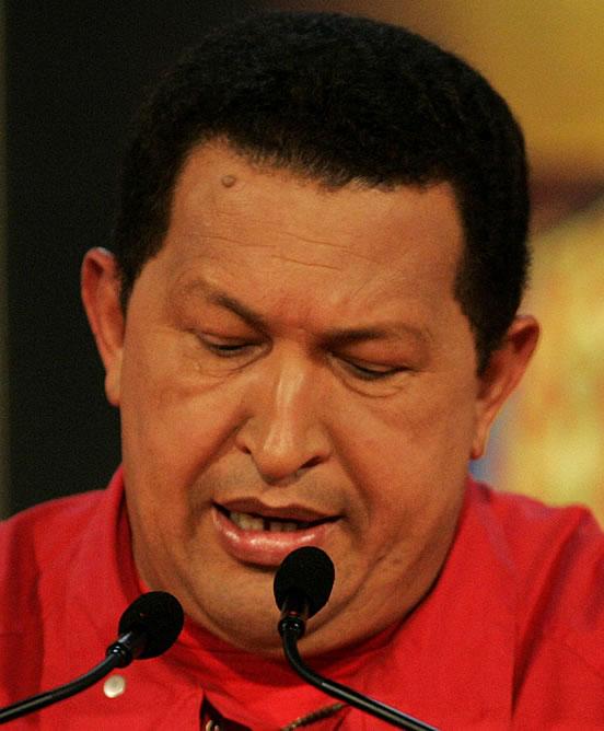 Hugo Chávez, tras reconocer la victoria de la oposición en el referéndum de reforma de la Constitución