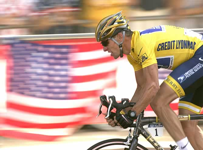 Armstrong, en el Tour de Francia 2004
