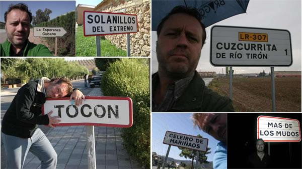 Algunas de las fotos de los topónimos más curiosos encontrados por nuestro aventurero Paco Nadal.
