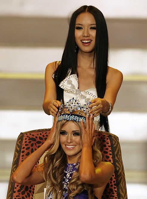 Kseniya Sukhinova, representante de Rusia, fue proclamada hoy Miss Mundo 2008