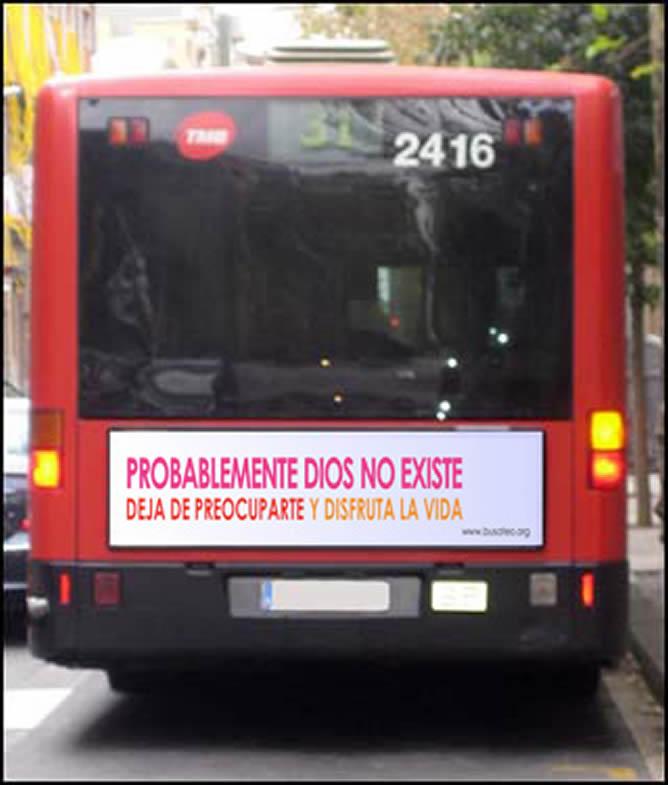 Recreación de la campaña que comenzará en los autobuses de Barcelona a partir del 12 de enero de 2009