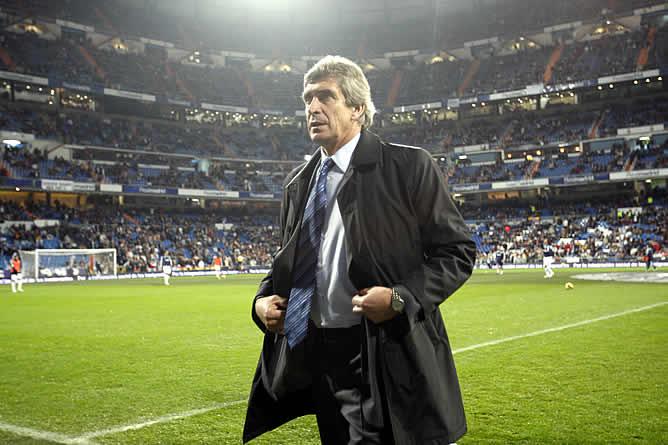 Manuel Pellegrini en el que será su nuevo estadio