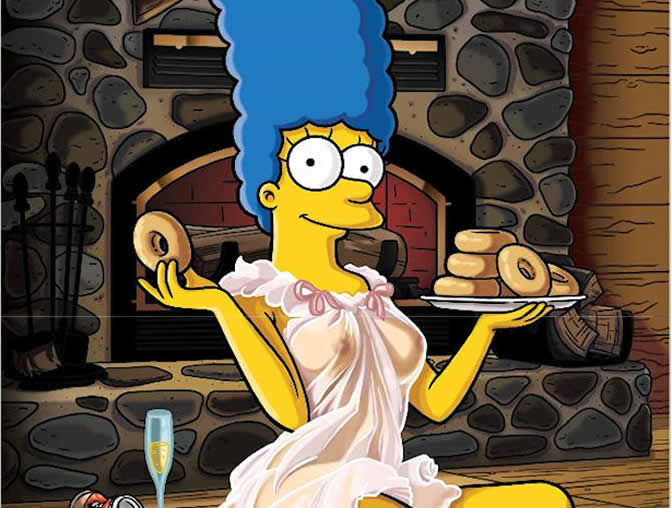 Salen a la luz las fotos de Marge Simpson desnuda