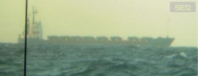La imagen tomada por el submarino español Siroco S-72