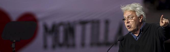 """El ex presidente del Gobierno ha pedido """"votos socialistas"""" para que siga gobernando José Montilla"""