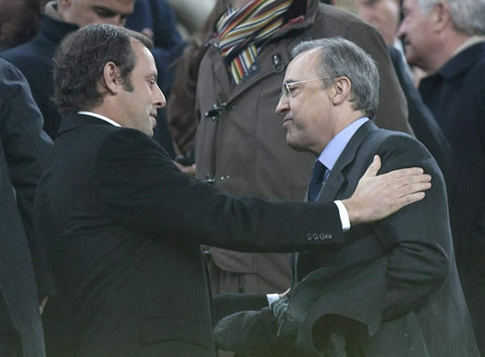 FOTOGALERIA: Sandro Rosell saluda a Florentino Pérez