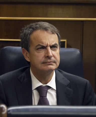 Zapatero, durante una sesión de control al Gobierno en el Congreso