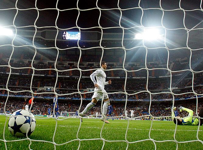 Cristiano Ronaldo celebra un gol en la 'Champions'