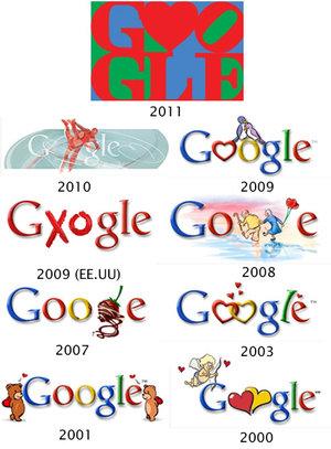 Los Doodle más amorosos de Google