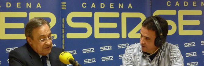 El presidente del Real Madrid, Florentino Pérez, responde a las preguntas de José Ramón de la Morena en 'El Larguero'