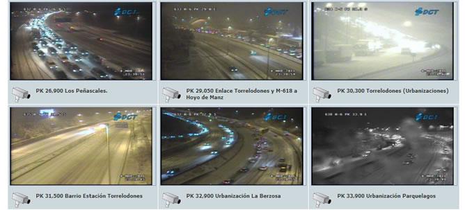 La nieve corta la circulación en la A6 y se esperan nevadas abundantes durante la noche