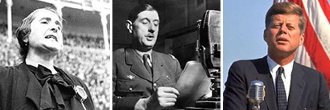 La Pasionaria, Charles De Gaulle y John F. Kennedy