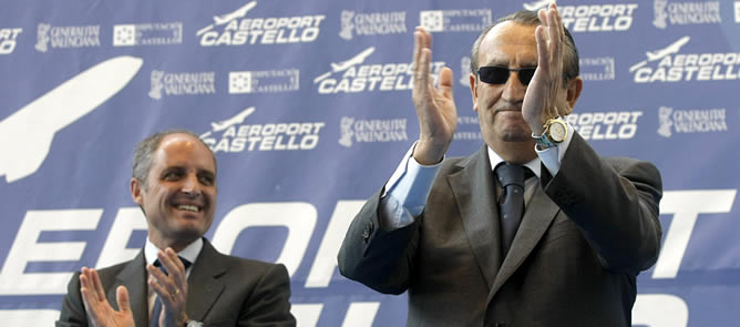 """Carlos Fabra llama """"pandilla de inútiles"""" a quienes critican el aeropuerto de Castellón"""
