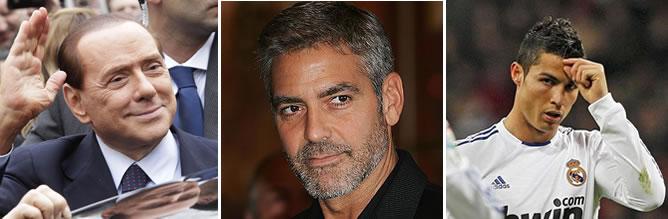 La defensa de Berlusconi propone a George Clooney y Cristiano Ronaldo como testigos