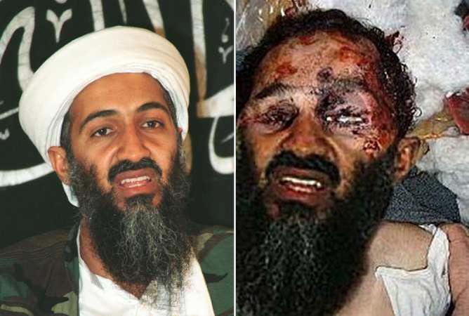 Comparación de las dos fotografías difundidas sobre la muerte de Osama Bin Laden