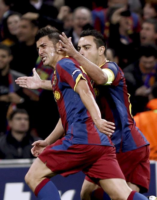 FOTOGALERIA: Villa, autor del tercer gol