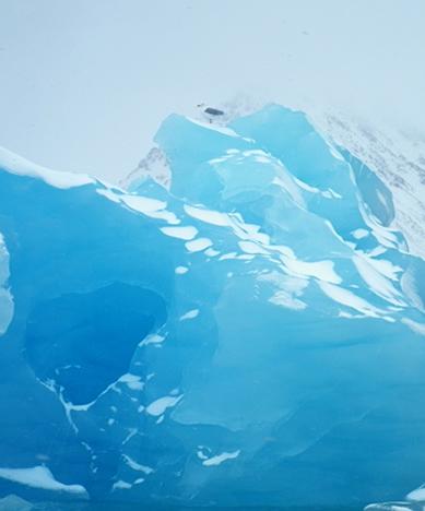 Hielo azul en al Ártico