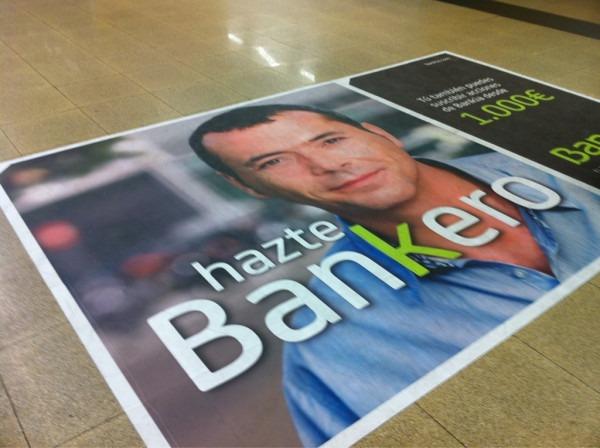 Anuncio de la campaña de Bankia en el Metro de Madrid