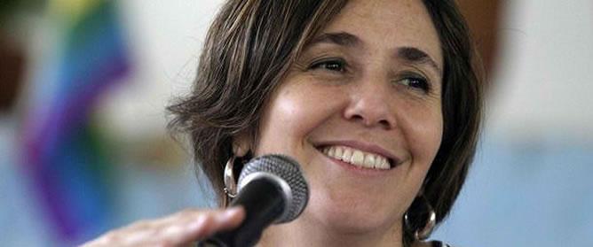 Mariela Castro, durante una intervención pública