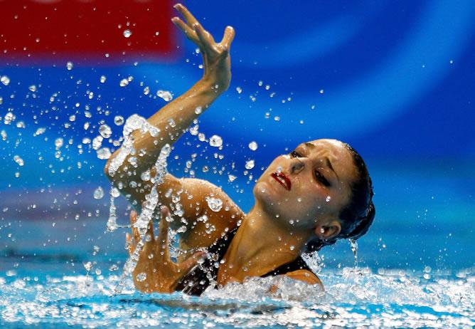 Andrea Fuentes, en el Mundial de Natación de Shanghai (China)