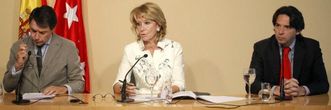 Esperanza Aguirre durante la rueda de prensa posterior al Consejo de Gobierno