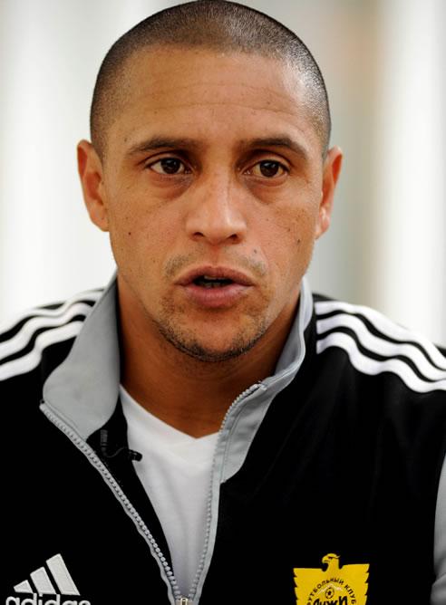 Roberto Carlos, jugador del Anzhí ruso