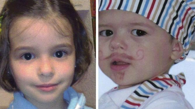 Fotografía de la niña y el niño, de 6 y 2 años, respectivamente, desaparecidos en Córdoba