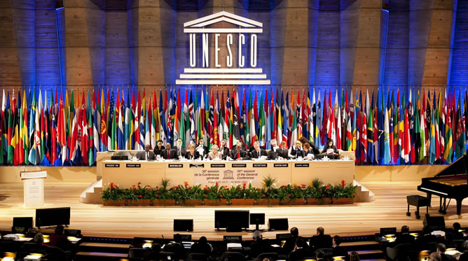 Vista general de la XXXVI Conferencia General de la UNESCO, en París