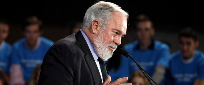 Miguel Arias Cañete, durante un acto político del Partido Popular