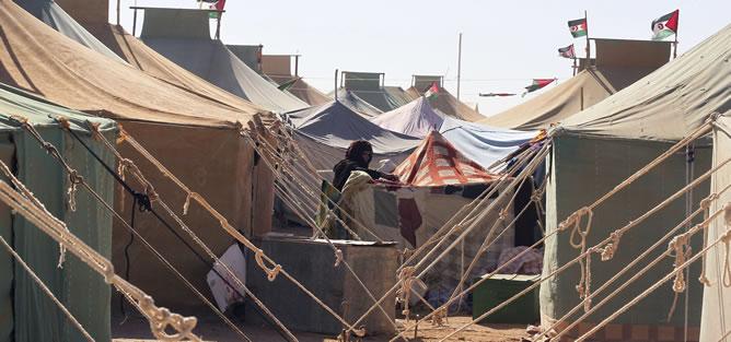 Campo de refugiados saharauis en Tifariti, en el Sahara Occidental