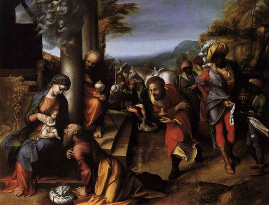 FOTOGALERIA: Adoración de los Magos, por Antonio Allegri da Correggio, 1516-1518. Pinacoteca de Brera (Milán, Italia)