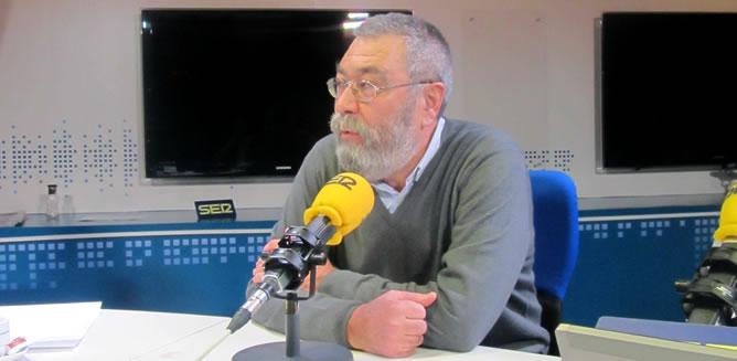 El secretario general de la UGT, Cándido Méndez, en la SER