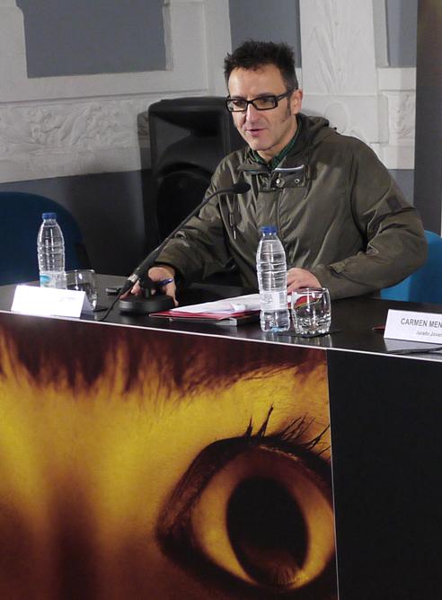 José Luis Cienfuegos, durante una rueda de prensa en la edición 49 del Festival de Cine de Gijón