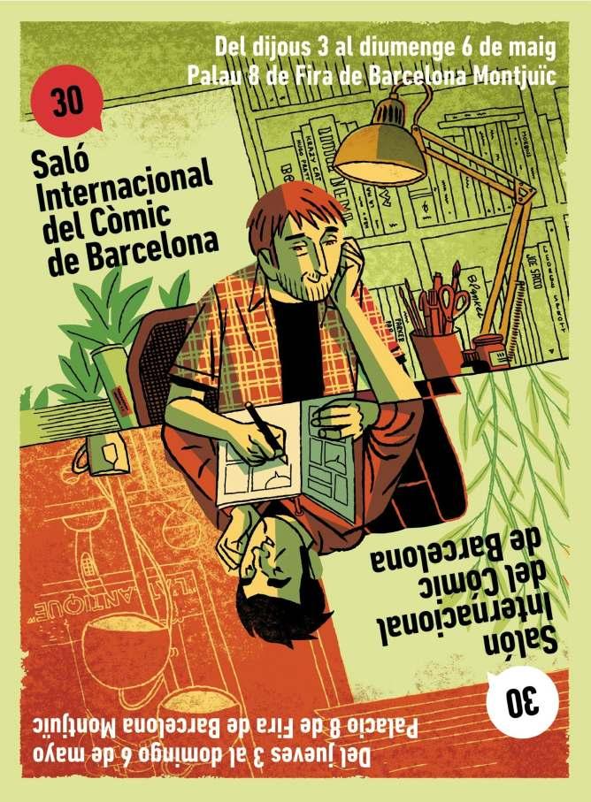 El cartel anunciador de la 30 edición del Salón Internacional del Cómic de Barcelona
