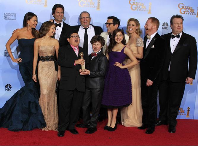 'Modern Family' celebra el Globo de Oro a mejor comedia
