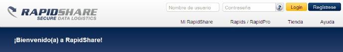 Rapidshare, uno de los servidores de descargas más importantes del mundo