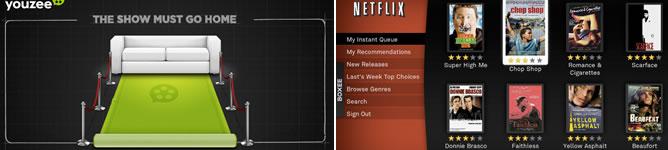 Youzee y Netflix, dos plataformas para ver contenidos online en España pasando por caja