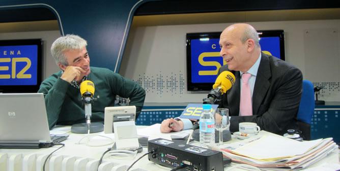 Carles Francino ha entrevistado al ministro de Educación, José Ignacio Wert